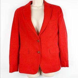 Vintage Land's End Red Tweed Career Wear Blazer